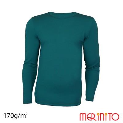 Herren Langarm T-Shirt   100% Merinowolle   170 g/qm