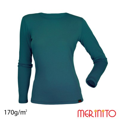 Damen Langarm T-Shirt   100% Merinowolle   170g/qm