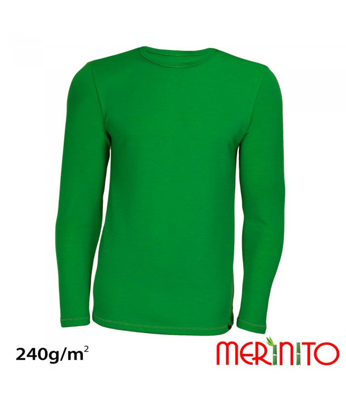 Merino shop merino bamboo dual layer men long sleeve for Bamboo fiber t shirt