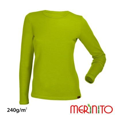 Langarm T-Shirt | Mehrschicht Merino Wolle & Bambus | 240 g/qm | Damen