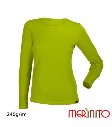 Merino-Shop | Damen 240g Merinowolle Bambus TShirt 100% Merino Funktionswäsche