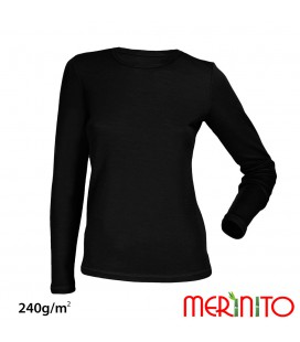Long Sleeve T-Shirt | Multi-Layer merino wool & bamboo | 240 g/sqm | Ladies