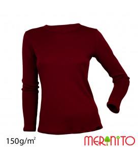 Damen Langarm T-Shirt | Merinowolle & Modal | 150 g/m2
