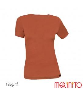 Damen Kurzarm T-Shirt zwei Farben | 100% Merinowolle | 185g/qm