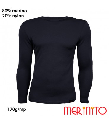 Men's Long Sleeve T-Shirt | 80% merino wool and 20% nylon | 170g/sqm
