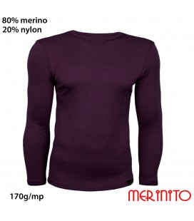 Men's Long Sleeve T-Shirt | 80% merino wool and 20% nylon | 170g/sqm