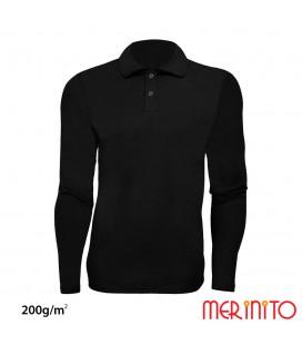 Long Sleeve Polo Jersey | 100% merino wool | 200g / sqm | Men