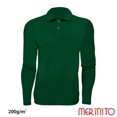 Langarm Polo Jersey | 100% Merinowolle | 200g/qm | Herren