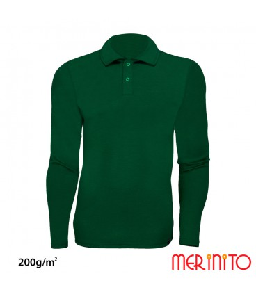 Long Sleeve Polo Jersey | 100% Merino | 200g /sqm | Men