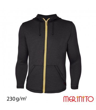 Men's Long Sleeve Parka | 100% merino wool | zipper | 230g/sqm