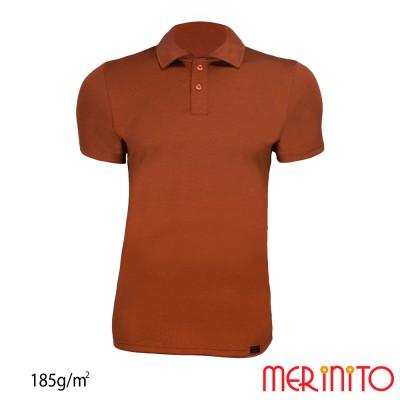 Short Sleeve Polo Jersey | 100% merino wool | 185g / sqm | Men