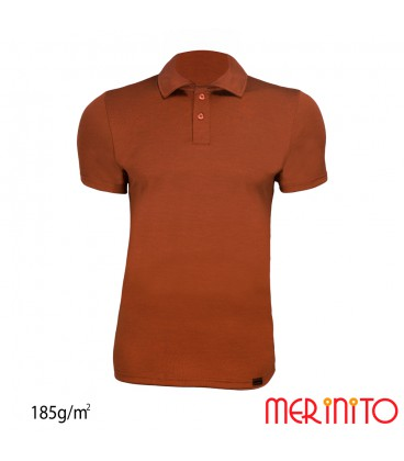 Kurzarm Herren Polo | 100% Merinowolle | 185g/qm