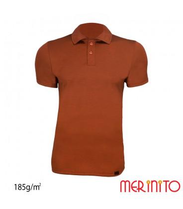 Short Sleeve Polo Jersey   100% Merino   185g /sqm   Men