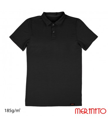 Short Sleeve Polo Jersey | 100% Merino | 185g /sqm | Men