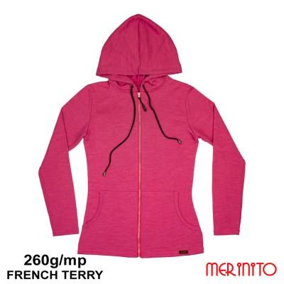 Women  French Terry Parka | 100% merino wool | 260g/sqm