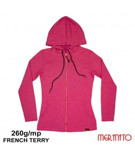 Women  French Terry Parka | 100% merino wool | 260g/sqm