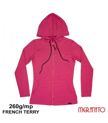 Women Long Sleeve Parka | 100% merino wool | 260g/sqm