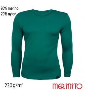 Herren Langarm T-Shirt | 80% Merinowolle und 20% Nylon | 230g/qm