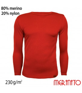 Men's Long Sleeve T-Shirt | 80% merino wool and 20% nylon | 230g/sqm