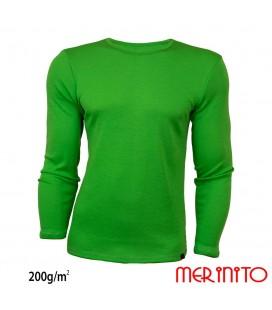 Langarm T-Shirt aus 100% Merinowolle 200 g/qm für Herren