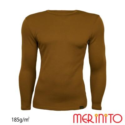 Herren Langarm T-Shirt | 100% Merinowolle | 185g/qm