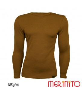Men's Long Sleeve T-Shirt | 100% merino wool | 185g/sqm