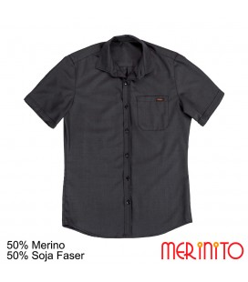 Men's Short Sleeve Shirt | 50% merino wool and 50% Soy fiber