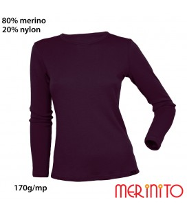 Women's Long Sleeve T-Shirt | 80% merino wool and 20% nylon | 170g/sqm