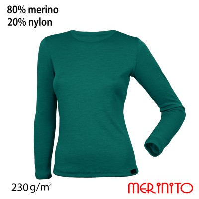 Women's Long Sleeve T-Shirt | 80% merino wool and 20% nylon | 230g/sqm