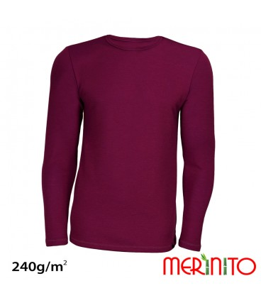 Merino Shop | Herren langarm wolle bamboo 240g T-Shirt Sportbekleidung