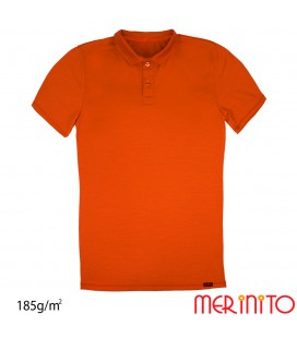 Short Sleeve Polo Jersey | 100% merino wool | 185g / sqm | Men