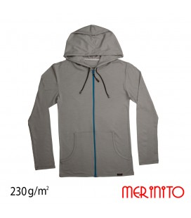 Men's Long Sleeve Parka | 100% merino wool | zipper | 230&280g/sqm