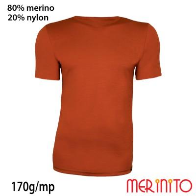 Men's Short Sleeve T-Shirt | 80% merino wool and 20% nylon | 170g/sqm