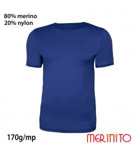 Herren Kurzarm T-Shirt | 80% Merinowolle und 20% Nylon | 170g/qm