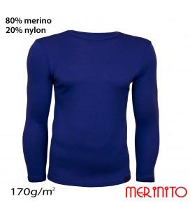 Herren Langarm T-Shirt | 80% Merinowolle und 20% Nylon | 170g/qm