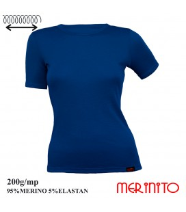 Women's Short Sleeve T-Shirt | 95% merino wool and 5% elastane | 200g/sqm