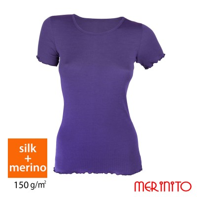 Women Short Sleeve T-Shirt | 70% silk & 30% merino wool | 150 g/m2