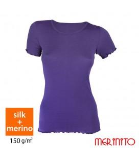 MerinoShop | 150 g/m2 Merinowolle Seide T-Shirt Damen Funktionshirt
