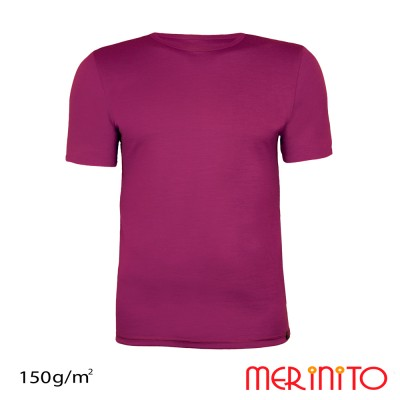 Men's Short Sleeve T-Shirt made from 100% merino wool | 150g/sqm