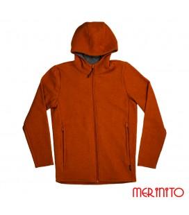 Herren Jacke aus gekochter Merino Wolle
