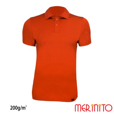 Kurzarm Polo Jersey   100% Merinowolle   200g/qm   Herren