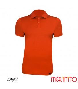Short Sleeve Polo Jersey | 100% merino wool | 200g / sqm | Men
