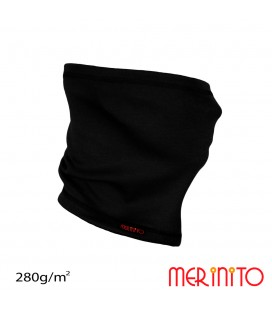 Unisex Interlock neck warmer for adults merino 280g/m2