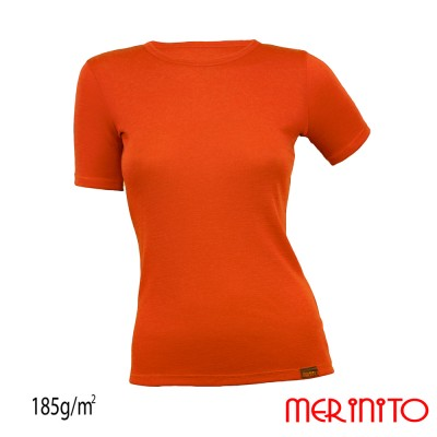 Damen Kurzarm T-Shirt | 100% Merinowolle | 185g/qm