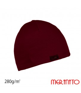 Merinowoll Beanie Unisex Interlock for adults merino 280g/m2
