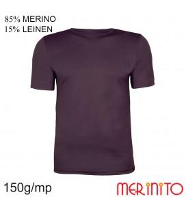 Kurzarm T-Shirt | 85% Merinowolle 15% Leinen | 150g/qm