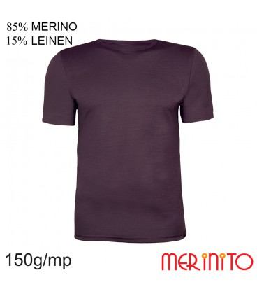 Merino Shop | Merinowool Men TShirt | 85% Merino 15% Linen | 150 g/sqm