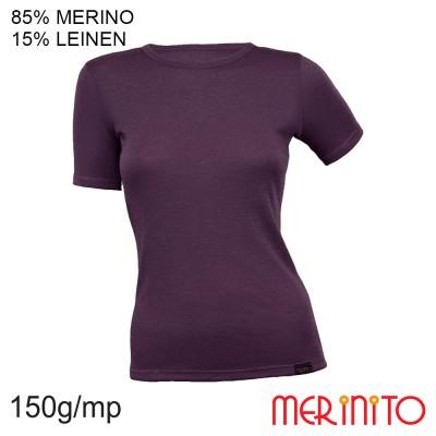 Women's Short Sleeve T-Shirt | 85% merino wool 15% linen | 150 g/m2