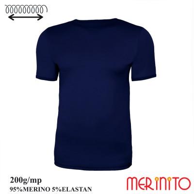 Herren Kurzarm T-Shirt | 95% Merino Wolle und 5% Elasthan | 200g/qm