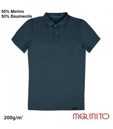 Kurzarm Herren Polo | 50% Merinowolle 50% Baumwolle| 200g/qm